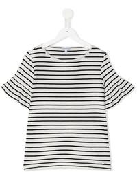 Camiseta de rayas horizontales en blanco y negro de Simonetta