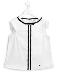 Camiseta de rayas verticales blanca