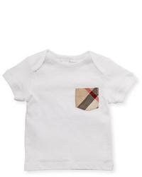 Camiseta de tartán blanca de Burberry