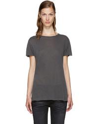 Camiseta en gris oscuro de R 13