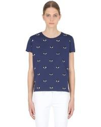 Camiseta estampada azul marino de Kenzo