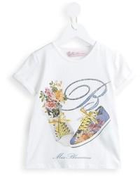 Camiseta estampada blanca