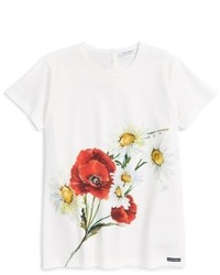 Camiseta estampada blanca de Dolce & Gabbana