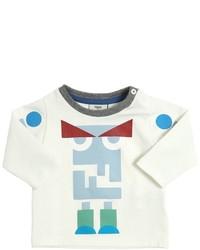 Camiseta estampada blanca de Fendi