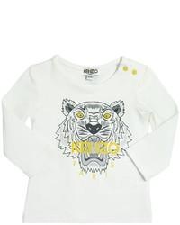 Camiseta estampada blanca de Kenzo