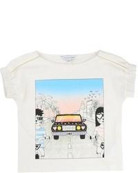Camiseta estampada blanca de Little Marc Jacobs