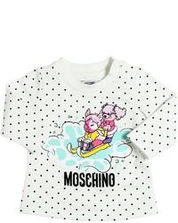 Camiseta estampada blanca de Moschino
