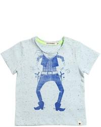 Camiseta estampada celeste