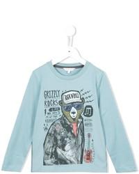 Camiseta estampada celeste de Little Marc Jacobs
