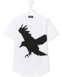 Camiseta estampada en blanco y negro de DSQUARED2