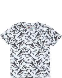 Camiseta estampada en blanco y negro de MC2 Saint Barth
