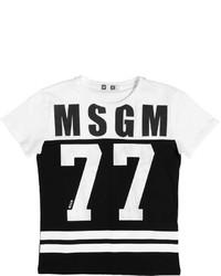 Camiseta estampada en blanco y negro de MSGM