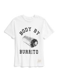 Camiseta estampada en blanco y negro de Original Retro Brand