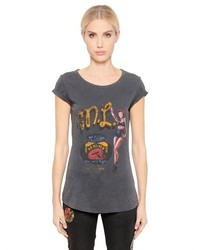Camiseta estampada en gris oscuro