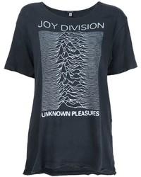 Camiseta estampada en gris oscuro de R 13