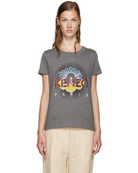 Camiseta Estampada Gris Oscuro de Kenzo