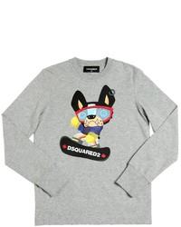 Camiseta estampada gris de DSQUARED2