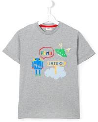 Camiseta estampada gris de Fendi