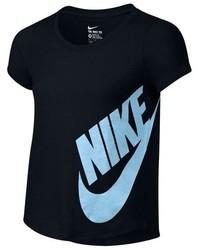 Camiseta estampada negra