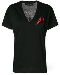 Camiseta estampada negra de Dsquared2