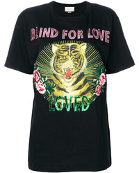 Camiseta estampada negra de Gucci