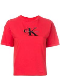 Camiseta estampada roja de Calvin Klein