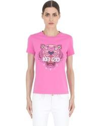 Camiseta Estampada Rosa de Kenzo