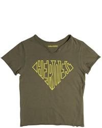 Camiseta estampada verde oliva de Zadig & Voltaire