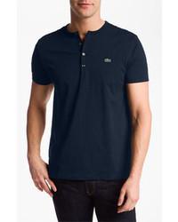 Camiseta henley azul marino
