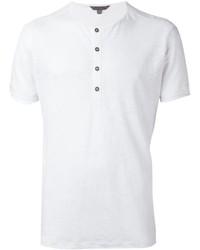 Camiseta henley blanca de John Varvatos