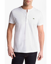 Camiseta henley blanca de Lacoste