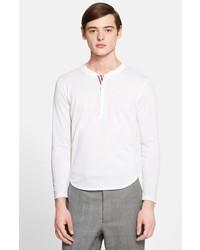 Camiseta henley blanca de Thom Browne