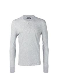 Camiseta henley de manga larga gris de Tom Ford