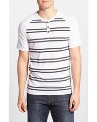 Camiseta henley de rayas horizontales blanca de Hurley