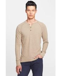 Camiseta henley en beige