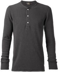 Camiseta henley en gris oscuro