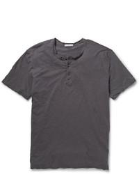 Camiseta henley en gris oscuro de James Perse