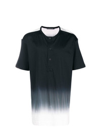 Camiseta henley en negro y blanco de Issey Miyake Men