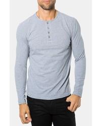 Camiseta henley gris de 7 Diamonds