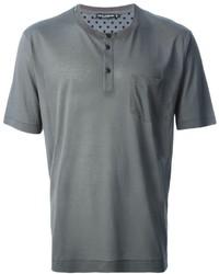 Camiseta henley gris de Dolce & Gabbana