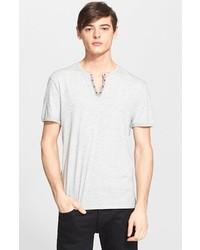 Camiseta henley gris de John Varvatos