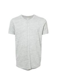 Camiseta henley gris de Majestic Filatures