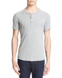 Camiseta henley gris de Wings + Horns