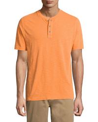 Camiseta henley naranja