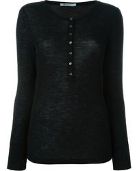 Camiseta henley negra de Alexander Wang