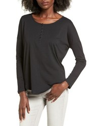 Camiseta henley negra de Articles of Society