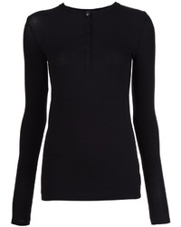 Camiseta henley negra de ATM Anthony Thomas Melillo