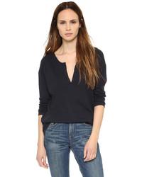 Camiseta henley negra