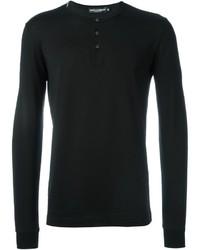 Camiseta henley negra de Dolce & Gabbana