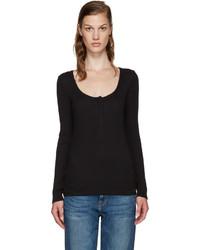 Camiseta henley negra de Frame
